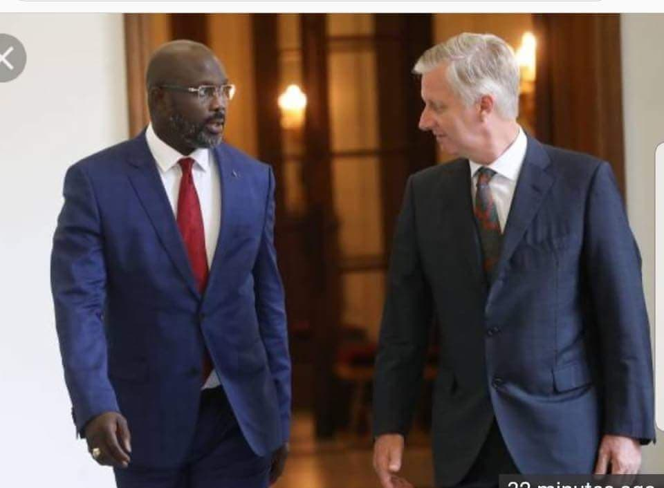 PRESIDENT WEAH MEETS KING PHILIPPE OF BELGIUM.