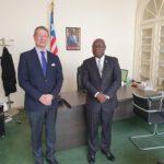 Ambassador Nyenabo and Ambassador Mika-Markus Leinonen